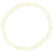 Facett Glas Armbänder 6x4mm Off white-pearl shine coating