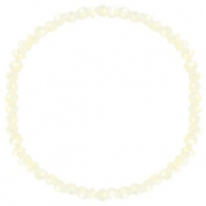Facett Glas Armbänder 4x3mm Off white-pearl shine coating