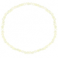 Facett Glas Armbänder 3x2mm Off white-pearl shine coating