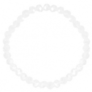 Facett Glas Armbänder 6x4mm Crystal-pearl shine coating