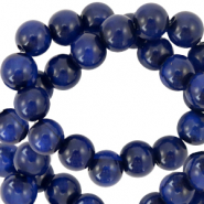 Polaris Perlen 6 mm rund Mosso shiny Deep blue