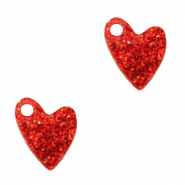 Plexx Anhänger Heart Glitter Ruby red