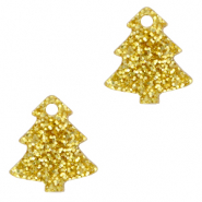 Plexx Anhänger Christmas Tree Glitter Golden yellow