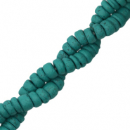 Kokos Perlen Disc 6mm Viridian green