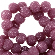 Sparkling beads 8mm Aubergine purple