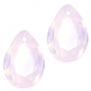 Facett Anhänger SQ Tropfenform 10x14mm Rose water opal