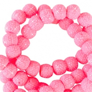 Sparkling beads 6mm Tropical pink