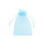 Schmuckbeutel Organza 7x9cm Light blue