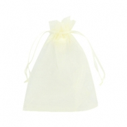Schmuckbeutel Organza 10x13cm Light yellow