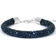 Crystal diamond Armbänder 8 mm Monatana blue