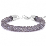 Crystal diamond Armbänder 8 mm Purple velvet