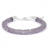 Crystal diamond Armbänder 7 mm Purple velvet