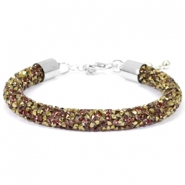Crystal diamond Armbänder 8 mm Greige-brons