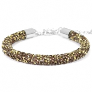 Crystal diamond Armbänder 7 mm Greige-brons