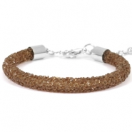 Crystal diamond Armbänder 7 mm Dark brown