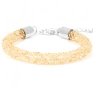 Crystal diamond Armbänder 8 mm Bisque beige