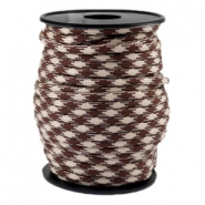 Trendy kordel rund Paracord 4mm Beige-warm brown