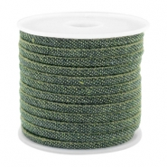 Trendy gesteppte Kordel Denim 4x3mm Dark green