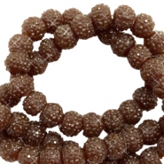 Sparkling beads 6mm Dark brown