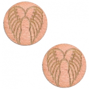 Holz Cabochon Angel Wings 12mm Rosegold