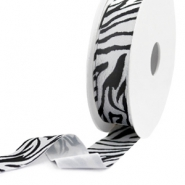 Elastisches Band Ibiza 25mm Black-white